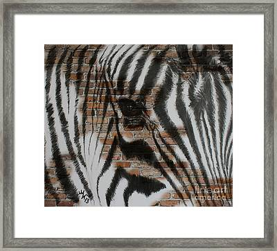 Zebra Wall Framed Print