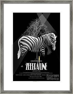 Zebraline Movie Poster Classic A Tribute To Ageth  Framed Print by Weiler WEILER