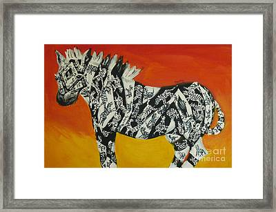 Zebras In Stripes Framed Print by Cassandra Buckley