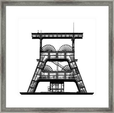Zeche Ewald Framed Print