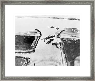 Zeebrugge Raid Framed Print