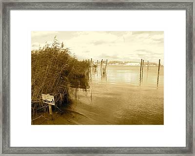 Zeeburg Beach Framed Print by Karen Weetman