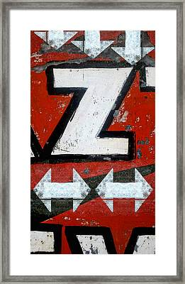 Zees Way Pleez Framed Print