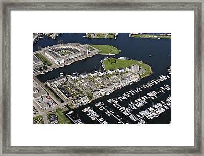 Zeewolde Marina, Flevoland Framed Print