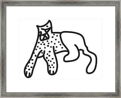 Zef Cheetah Framed Print