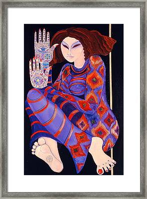 Zeinab Chasing The Devil Part 2, 1992 Acrylic On Paper See Also 279211 Framed Print
