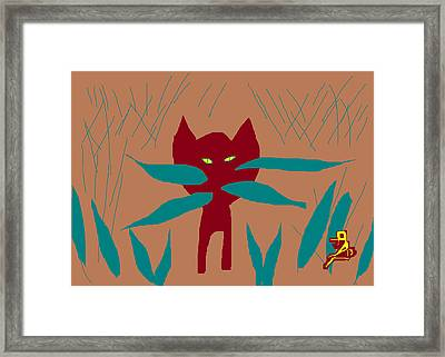 Zelda In The Grass Framed Print