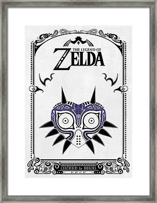 Zelda Legend - Majora's Mask Framed Print by Art Et Be