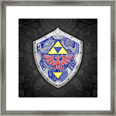 Zelda - Link Shield Framed Print by Art Et Be