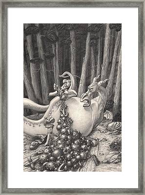Zelma And The Not-quite-a-dragon Framed Print