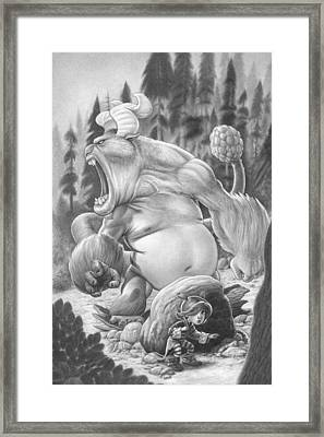 Zelma Vs. The Gomorack Framed Print