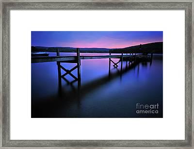 Zen At Lake Waramaug Framed Print