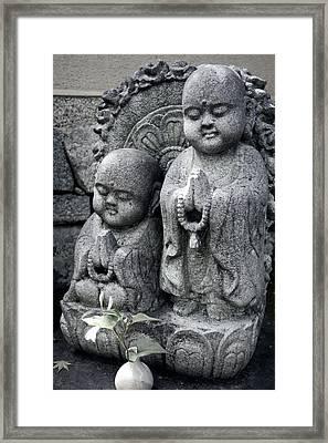 Zen Buddhas - Kyoto Framed Print by Daniel Hagerman