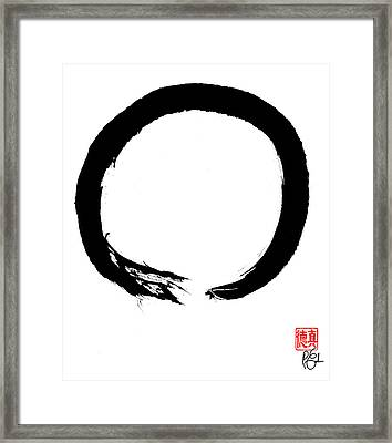 Zen Circle Four Framed Print