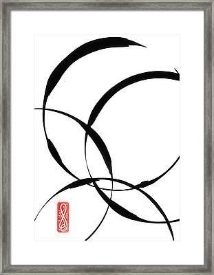 Zen Circles 2 Framed Print