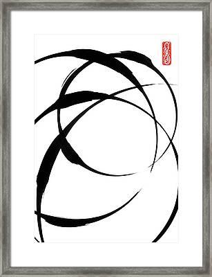 Zen Circles 4 Framed Print by Hakon Soreide