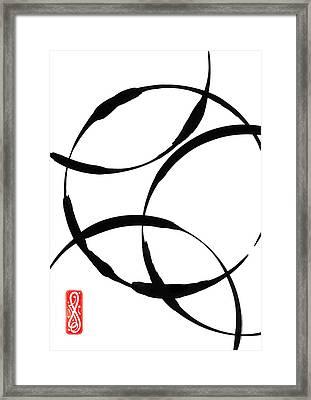 Zen Circles Framed Print by Hakon Soreide