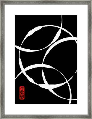 Zen Circles Inverted Framed Print by Hakon Soreide