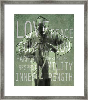 Zen Compassion Framed Print by Dan Sproul