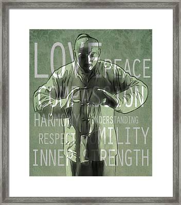 Zen Compassion Framed Print