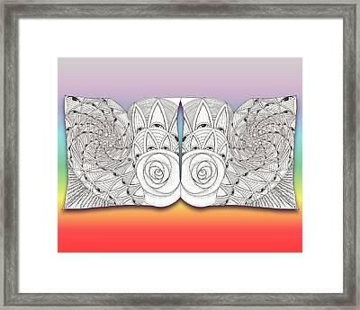 Zen Eyes Framed Print by Melinda DeMent