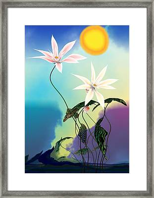 Zen Flowers 3d Framed Print by GuoJun Pan