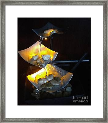 Zen Fountain Framed Print by M West