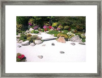 Zen Garden Framed Print by Pamela Schreckengost