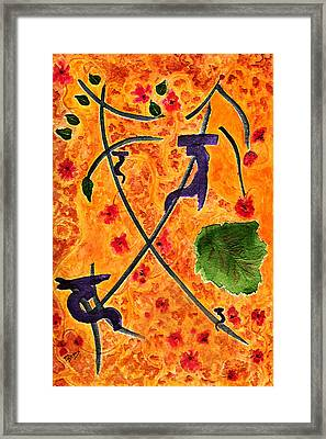 Framed Print featuring the painting Zen Garden by Paula Ayers