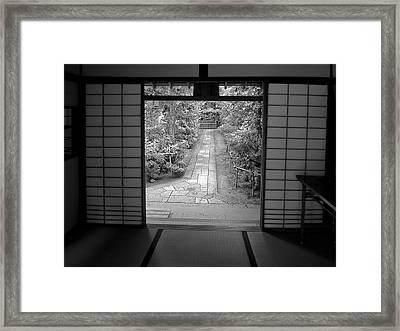 Zen Garden Walkway Framed Print