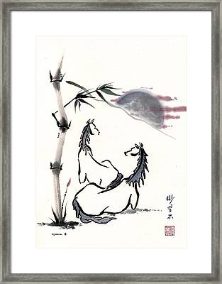 Framed Print featuring the painting Zen Horses Evolution Of Consciousness by Bill Searle