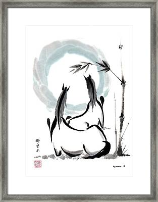 Zen Horses Into The Vortex Framed Print by Bill Searle