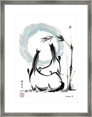 Zen Horses Into The Vortex Framed Print