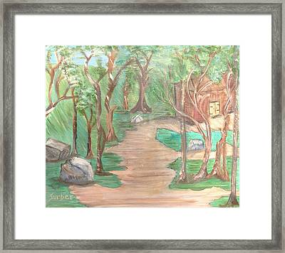 Zen House Framed Print by Suzanne Surber