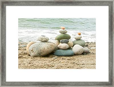 Zen Meditation Balance Framed Print by Artist and Photographer Laura Wrede