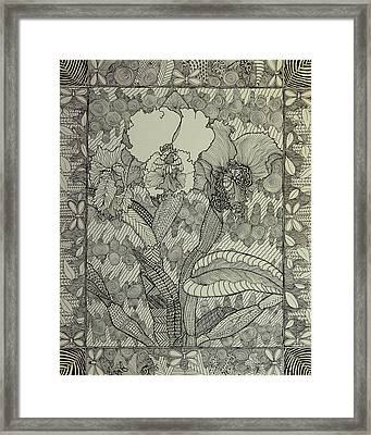 Zen Orchids Framed Print