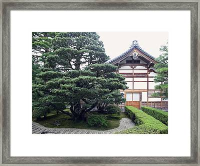 Zen Priests Quarters - Kyoto Japan Framed Print by Daniel Hagerman
