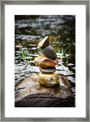 Zen River I Framed Print