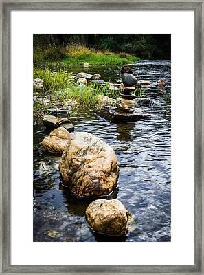 Zen River V Framed Print