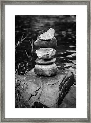 Zen River Vii Framed Print by Marco Oliveira