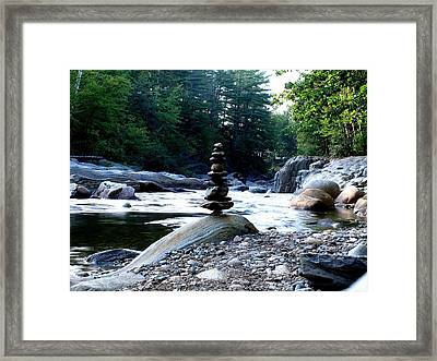 Zen Rock Tower Framed Print