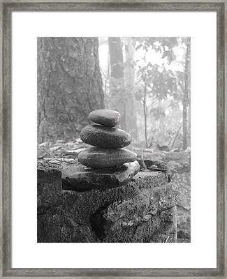 Zen Rocks Framed Print