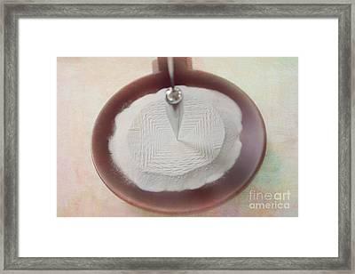 Zen Sand Pendulum Framed Print by Kay Pickens