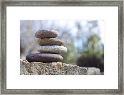 Zen Stones Framed Print by Ben ONeal