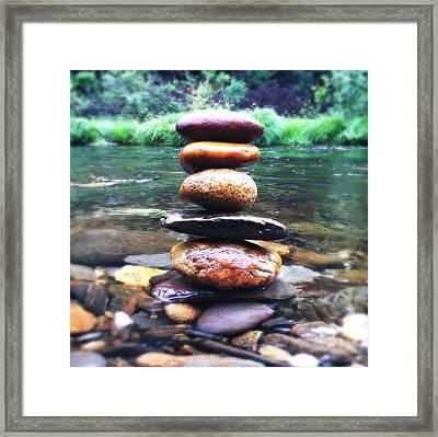 Zen Stones II Framed Print