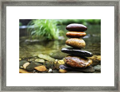 Zen Stones Framed Print by Marco Oliveira