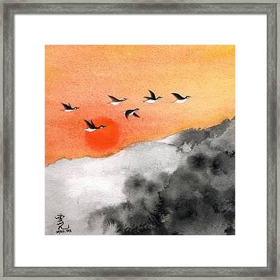Zen Sunset Framed Print by Oiyee At Oystudio