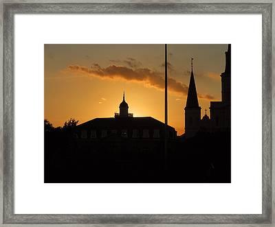 Zen Sunset Framed Print