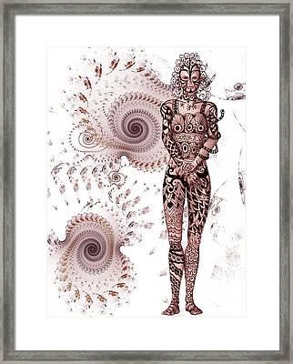 Zen Tangles Framed Print