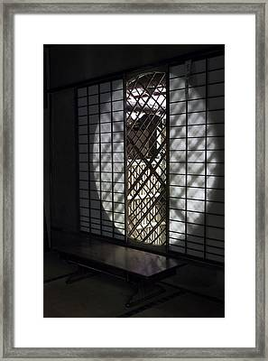 Zen Temple Window - Kyoto Framed Print